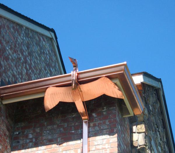 copper gutter art